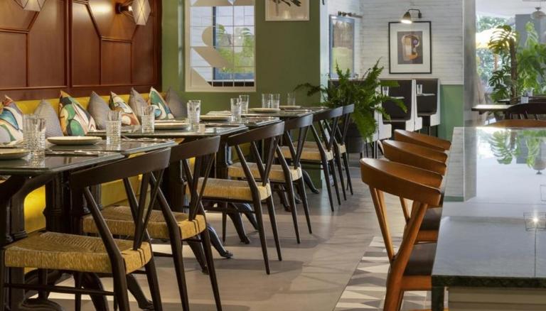 Restaurant Interior Grain and Frame