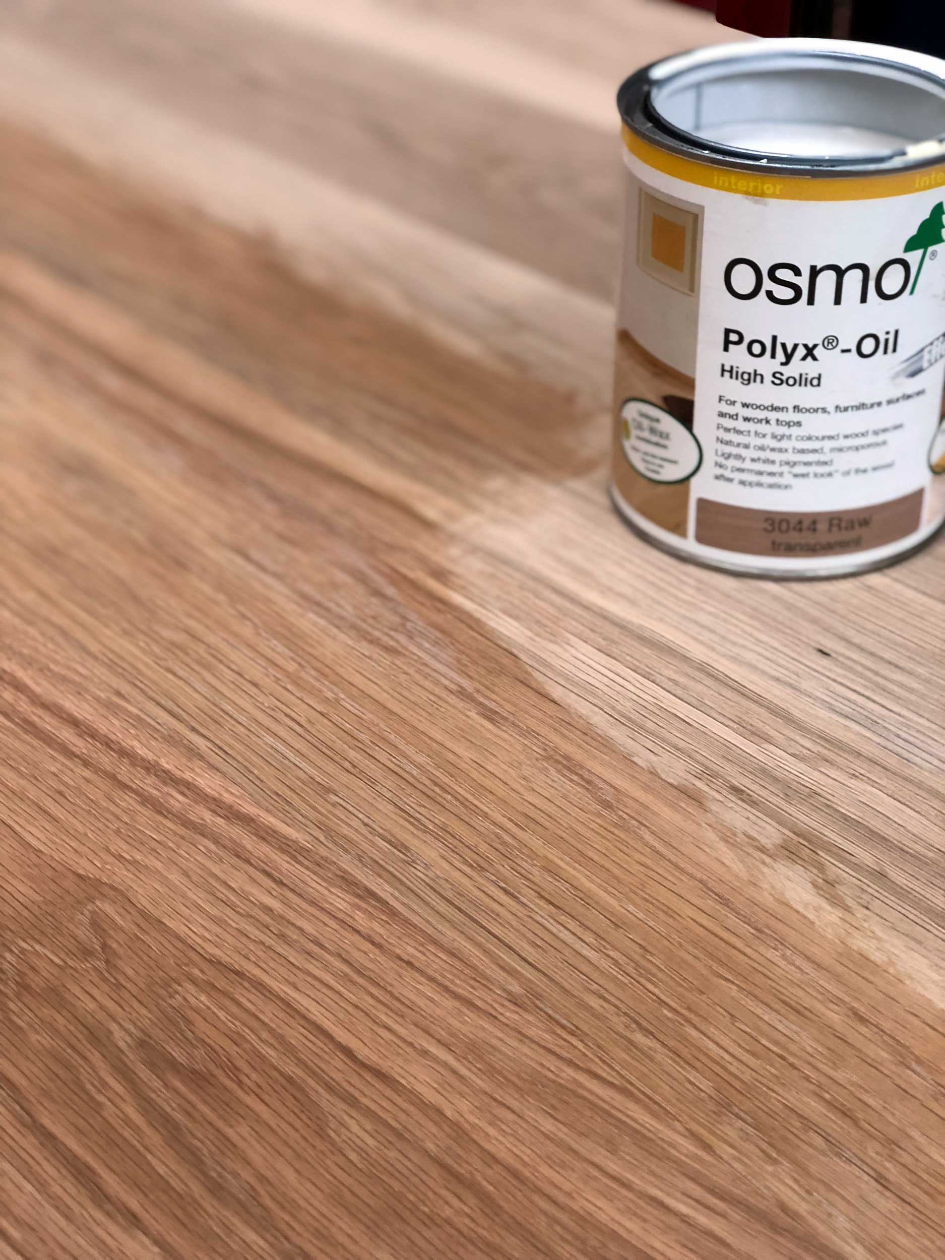 Natural Oak Table Top Finished in Hard Wax Oil
