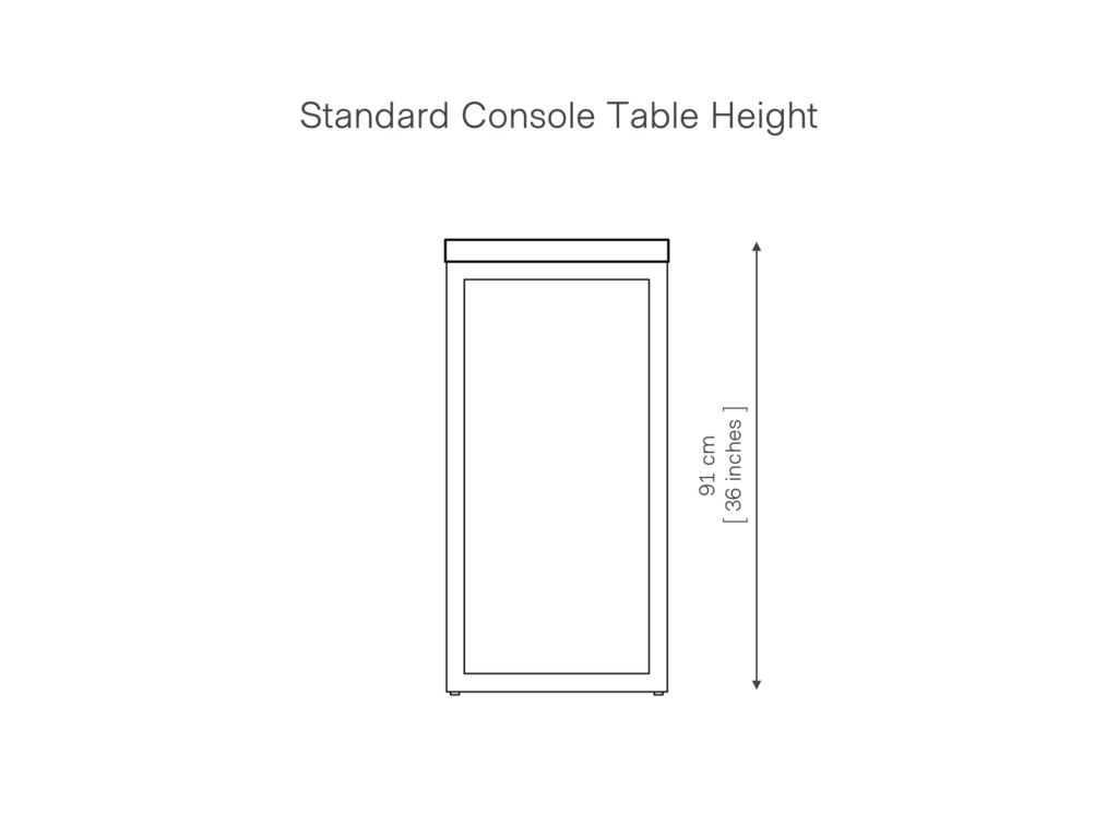 Standard Console Table Height UK Guide Grain and Frame