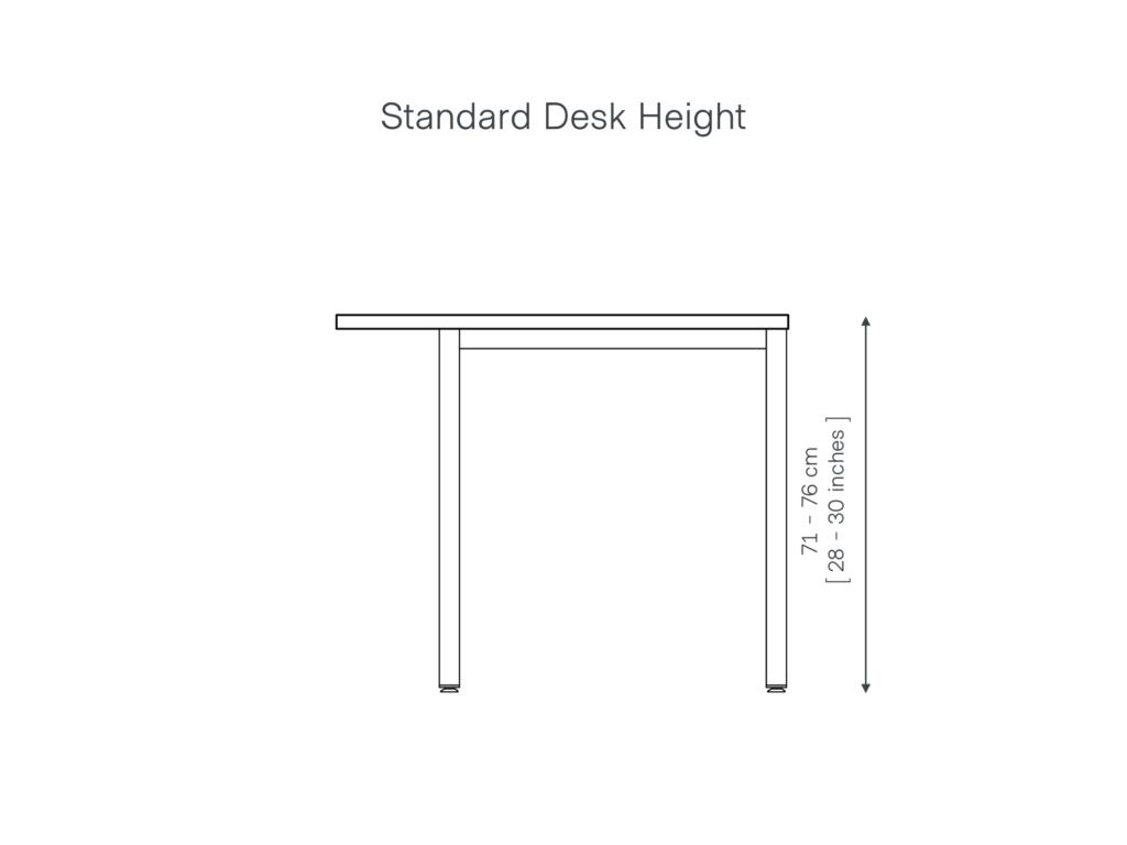 Standard Desk Height UK Guide Grain and Frame