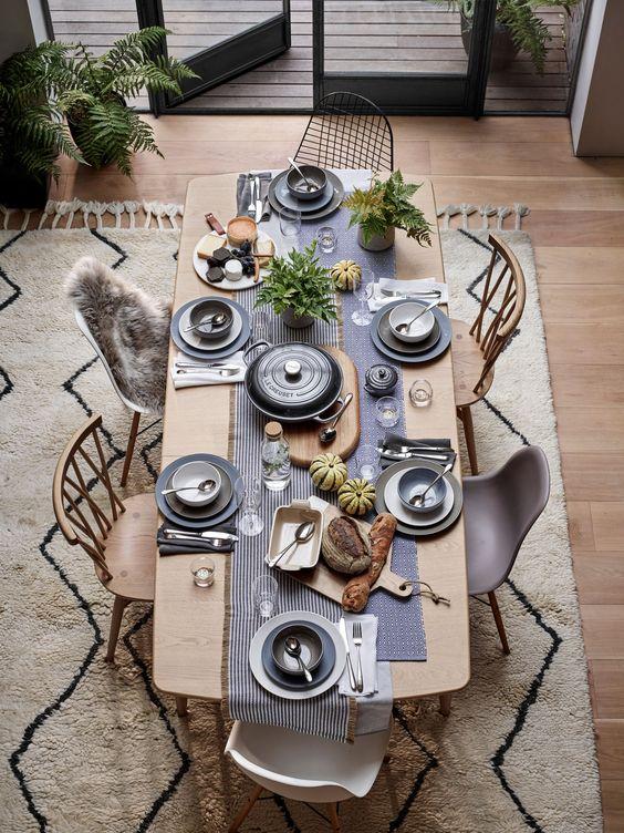 Laid Back Dining Table Setup