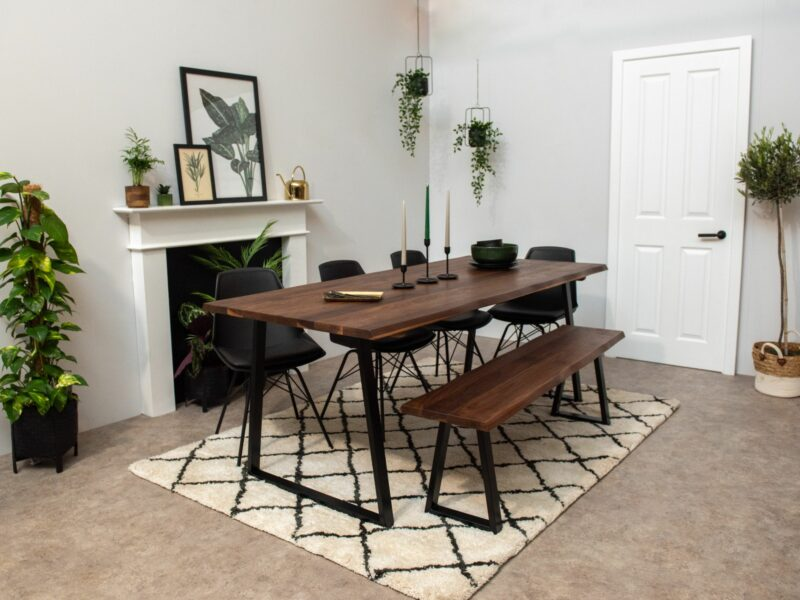 Grain and Frame Live Edge American Walnut Dining Table